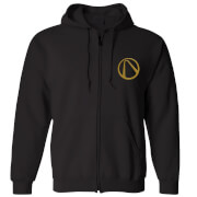 Borderlands Embroidered Unisex Zipped Hoodie - Black