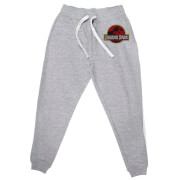 Jurassic Park Embroidered Unisex Joggers - Grey