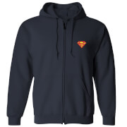 DC Superman Unisex Zipped Hoodie - Navy