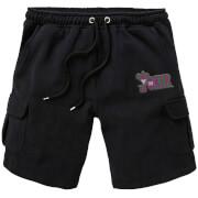 DC Joker Embroidered Unisex Cargo Shorts - Black