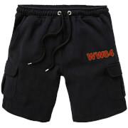 DC Wonder Woman WW84 Embroidered Unisex Cargo Shorts - Black