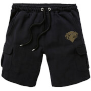 Harry Potter Gryffindor Embroidered Unisex Cargo Shorts - Black