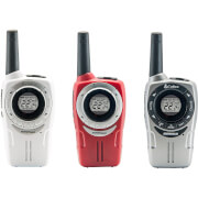 Cobra SM660 Weather Resistant Walkie Talkie with 10km Range, Power Saving Function and Rechargeable Batteries - White/Red/Silver (3 Pack)