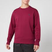 acne studios men's fairview face sweatshirt - dark pink - s