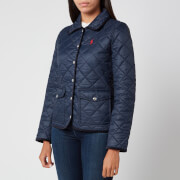 Polo Ralph Lauren Women's Logo Quilt Padded Jacket - Aviator Navy - XS