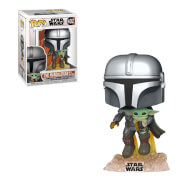 Star Wars The Mandalorian Mandalorian Flying avec Jet Funko Pop! Vinyl
