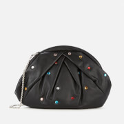 Núnoo Women's Saki Multi Stones Clutch Bag - Black