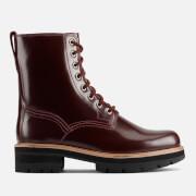 Clarks Women's Orianna Hi Leather Lace Up Boots - Merlot - UK 3