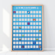 100 Things to Do After Quarantine Bucket List Scratch Poster