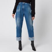 Balmain Women's Vintage Boyfriend Jeans - Blue - FR 38/UK10