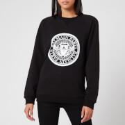 Balmain Women's Flocked Coin Sweatshirt - Black - XS