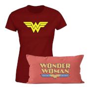 Wonder Woman T-Shirt And Cushion Bundle