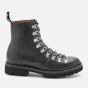 Grenson Women's Nanette Snake Print Hiking Style Boots - Black - UK 3