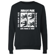 Jurassic Park The Faces Women's Sweatshirt - Black