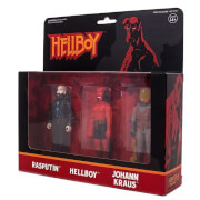 Super7 Hellboy ReAction Figure - Pack B (Hellboy Without Horns, Rasputin, Johann Kraus) Action Figure