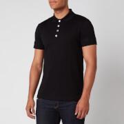 Balmain Men's Embossed Polo Shirt - Black - S