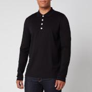 Balmain Men's Foil Side Detail Polo Shirt - Black - S