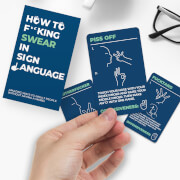 How To Swear In Sign Language Cards