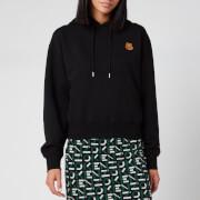 KENZO Women's Boxy Fit Hoodie Tiger Crest - Black - XS