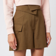 KENZO Women's Utility Shorts - Khaki - UK 10/EU 40