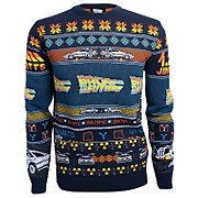 Back to the Future Christmas Knitted Jumper - Navy