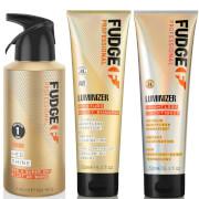 Купить Fudge Professional Luminizer Shampoo, Conditioner and Hed Shine Bundle