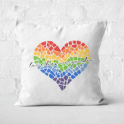 Miss Greedy Love Has No Gender Square Cushion
