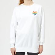 Miss Greedy Love Has No Gender Women's Sweatshirt - White