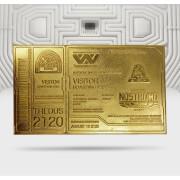 Ticket d'Embarquement Alien 24K Plaqué Or Édition Limitée - Exclusivité Zavvi