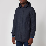 Herno Men's Laminar Hooded Car Coat - Blue Check - 54/XXL