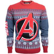 Marvel Avengers Kids Christmas Knitted Jumper - Navy