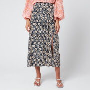 RIXO Women's Georgia Skirt - Wallpaper Floral - XS