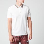Missoni Men's Short Sleeve Collar Detail Polo Shirt - White - S