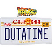 Doctor Collector Back to the Future Outatime License Plate Replica