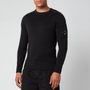 c.p. company men's knitted jumper - black - 50/l