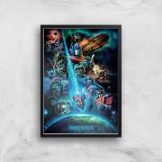 Transformers Earthrise A2 Giclee Art Print