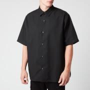 acne studios men's boxy short sleeve shirt - black - 50/l