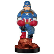 Figurine Cable Guys Figurine Support Chargeur Smartphone et Manette Marvel Captain America Gameverse