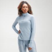 Camiseta con cremallera ¼ Velocity para mujer de MP - Azul claro