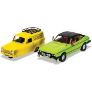 Del Boy's Reliant Regal and Ford Capri Mk II Model Set - Scale 1:36