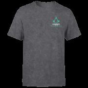 Assassins Creed Valhalla Glow In The Dark Unisex T-Shirt - Black Acid Wash