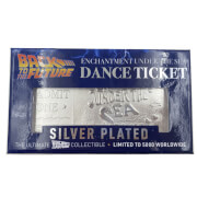 Back to the Future Silver Plated Limited Edition Enchantment Under the Sea Dance Ticket