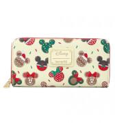 Loungefly Disney Mickey & Minnie Christmas Cookies Zip Around Wallet