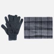 Barbour Men's Tartan Scarf and Gloves Gift Set - Black/Grey Check