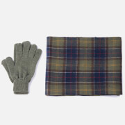 Barbour Men's Tartan Scarf and Gloves Gift Set - Signature Check