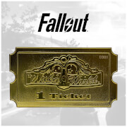 Fallout 24k Gold Plated Limited Edition Replica Nuka World Ticket