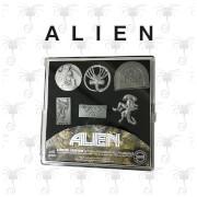 Alien Pin Badge Set