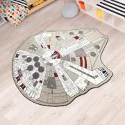 Star Wars Millennium Falcon Rug - 59 Inch x 79 Inch