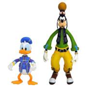 Figurine Donald & Goofy - Diamond Select Kingdom Hearts - 15 cm