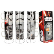 Star Wars Stackable Ceramic Mugs 3pk Stormtroopers Set E7